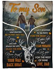 Deer hunting - To my son 1 Fleece Blanket tile