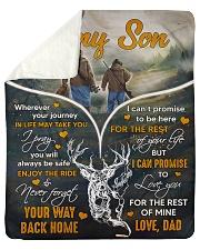 Deer hunting - To my son 1 Sherpa Fleece Blanket tile