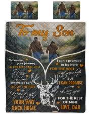 Deer hunting - To my son 1 Quilt Bed Set tile
