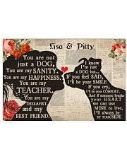 Dog girl poster Customizable 24x16 Poster front