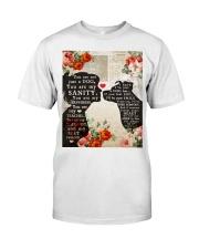 Dog girl t shirt Classic T-Shirt front