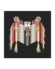 Native clothing mask Square Coaster thumbnail