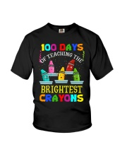 100 days of teaching the brightest crayons Youth T-Shirt thumbnail