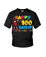 Happy 100 days of kindergarten Youth T-Shirt tile