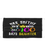 Mrs Smiths starts are 100 days brighter Cloth face mask front