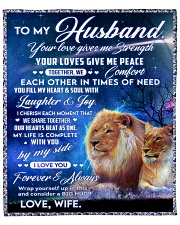 To my husband blanket lion Fleece Blanket tile