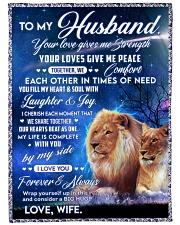 "To my husband blanket lion Large Fleece Blanket - 60"" x 80"" front"