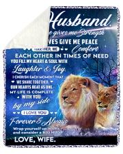 "To my husband blanket lion Sherpa Fleece Blanket - 50"" x 60"" thumbnail"