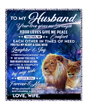 """To my husband blanket lion Quilt 50""""x60"""" - Throw thumbnail"""