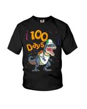 Dinosaur 100 days school Youth T-Shirt tile