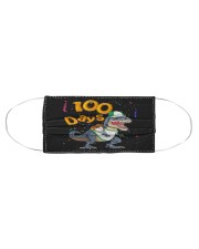 Dinosaur 100 days school Cloth face mask aos-face-mask-coverlet-lifestyle-front-01