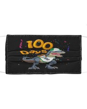 Dinosaur 100 days school Cloth face mask front