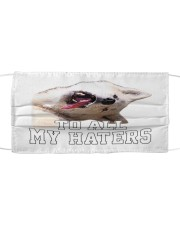 husky to all my haters Cloth face mask front