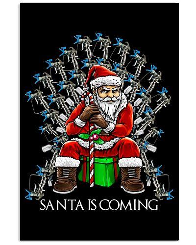 painter santa is coming xmas