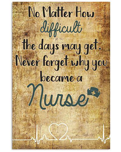 nurse no matter how difficult the days