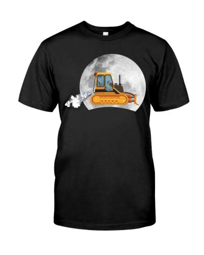 Heavy bulldozer moon