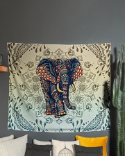 "Yoga-Zentangle Elephant Home Decor Wall Tapestry - 60"" x 51"" aos-wall-tapestry-80x68-lifestyle-front-01"