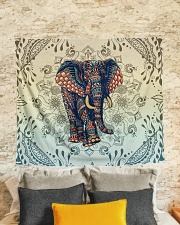 "Yoga-Zentangle Elephant Home Decor Wall Tapestry - 60"" x 51"" aos-wall-tapestry-80x68-lifestyle-front-02"