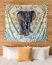 "Yoga-Zentangle Elephant Home Decor Wall Tapestry - 60"" x 51"" aos-wall-tapestry-80x68-lifestyle-front-03"