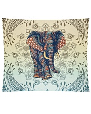 "Yoga-Zentangle Elephant Home Decor Wall Tapestry - 60"" x 51"" front"
