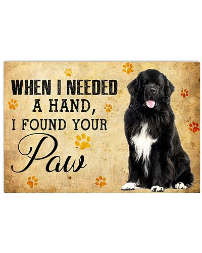 newfoundland when i need a hand i found your paw