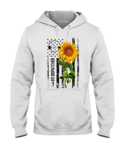 911 Dispatcher american flag with sun flower
