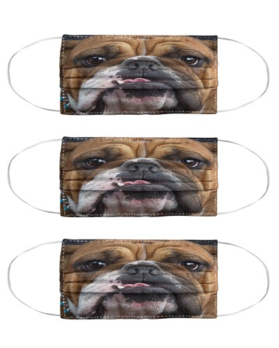 bulldog Mask Pack 3 Pack 5 Pack 10