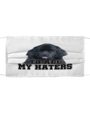newfoundland to all my haters Cloth face mask front