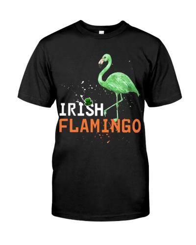 Irish Flamingo Funny T-shirt