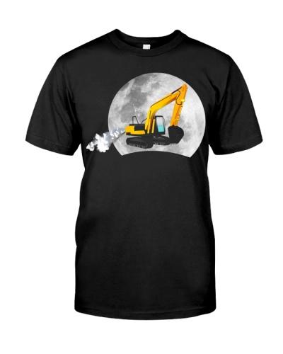 Heavy excavator-moon