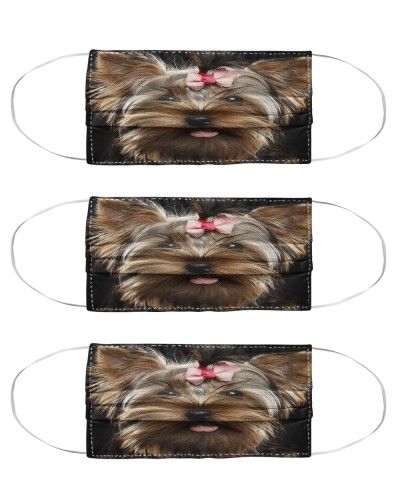 Yorkshire Terrier Mask Pack 3 Pack 5 Pack 10