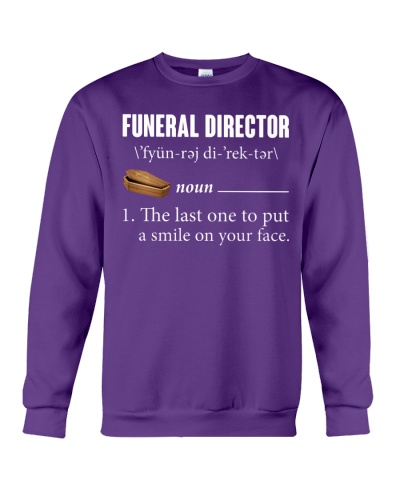 Funeral Director noun the last one to put a smile