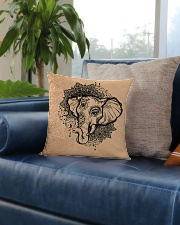 Yoga-Mandala Elephant Home Decor Square Pillowcase aos-pillow-square-front-lifestyle-02