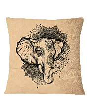 Yoga-Mandala Elephant Home Decor Square Pillowcase back