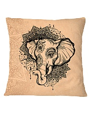 Yoga-Mandala Elephant Home Decor Square Pillowcase front