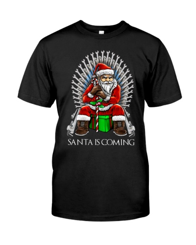 plumber santa is coming xmas
