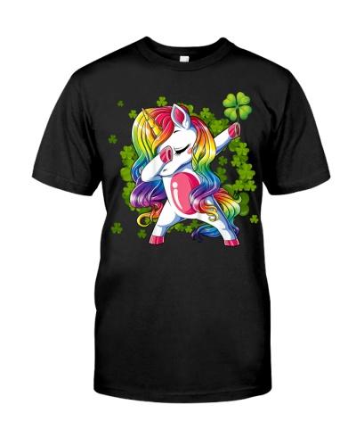 St Patrick's Day Unicorn Dabbing