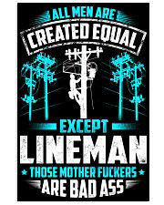 Lineman - Created Equal Vertical Poster tile