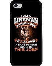 Lineman vs Sane person Phone Case thumbnail