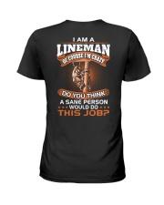 Lineman vs Sane person Ladies T-Shirt thumbnail