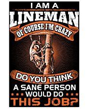 Lineman vs Sane person 11x17 Poster thumbnail