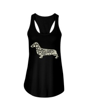Life is better with dachshunds around Ladies Flowy Tank front