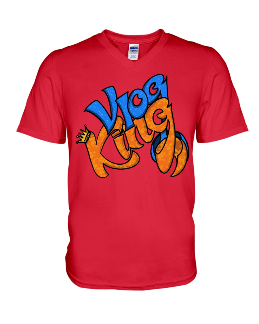 Vlog king  V-Neck T-Shirt