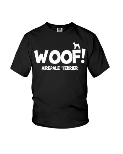 Woof airedale terrier shirt