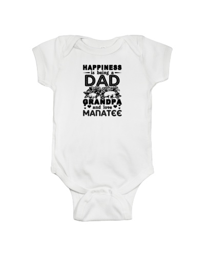 Happiness Dad Grandpa Love Manatee Shirt