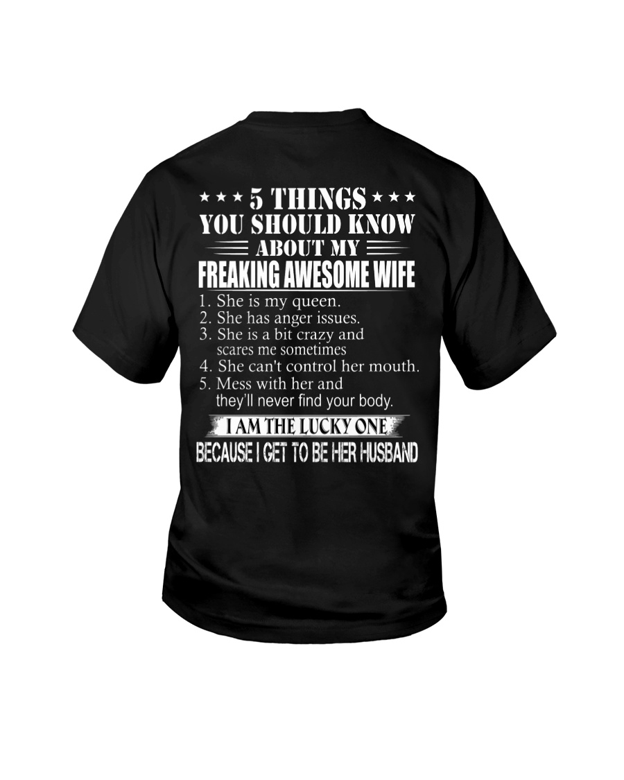 5 THING ABOUT MY AWESOME WIFE2 Youth T-Shirt