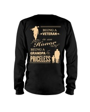 Being a Veteran is an Honor Long Sleeve Tee back