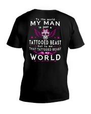 MY WORLD MY TATTOOED BEAST V-Neck T-Shirt thumbnail