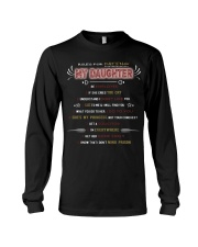 RULE FOR DATING MY DAUGHTER Long Sleeve Tee front