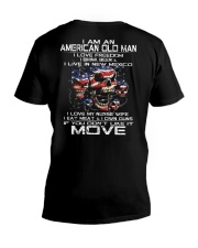 I Am An American Old Man - I Love My Nurse Wife V-Neck T-Shirt thumbnail